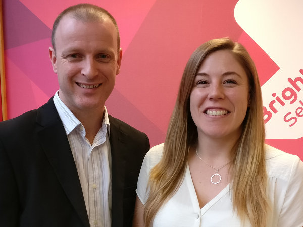 Neil and Steph being promoted to Senior Consultant