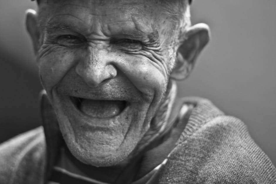Laughing Old Man Image